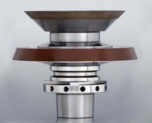 Rollomatic grinding wheel adapter