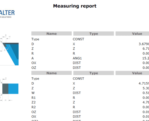WALTER HELISET sample measuring report