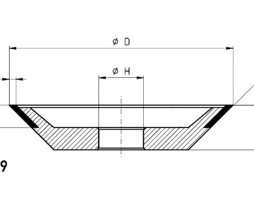 12V9 gashing wheel dimensions