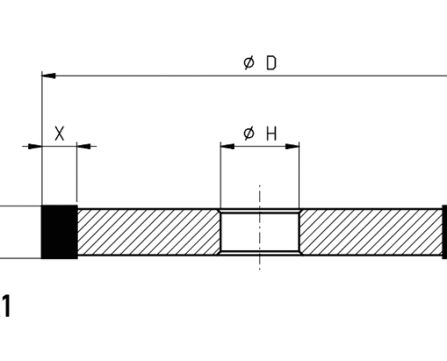 1A1 grinding wheel dimensions