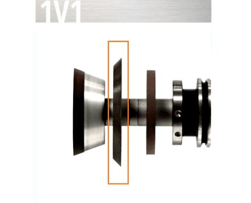 1V1 fluting wheel