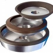 Three super abrasive grinding wheels