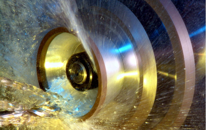 Tool grinding close up