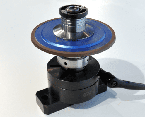 grinding wheel set with balancing nut and universal fixture V2