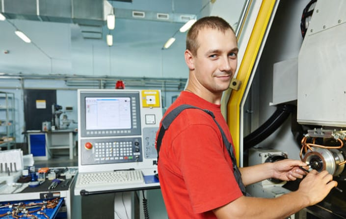 Service engineer at CNC tool grinder